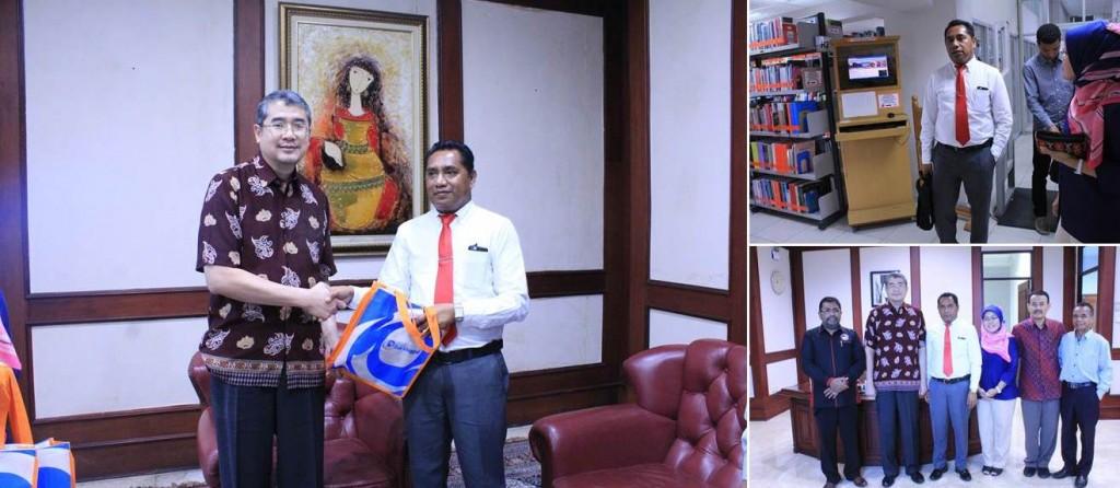 Rektor Universitas Dili Aurélio Sergio Cristovao Guterres bersama Rektor dan Warek Universitas Esa Unggul