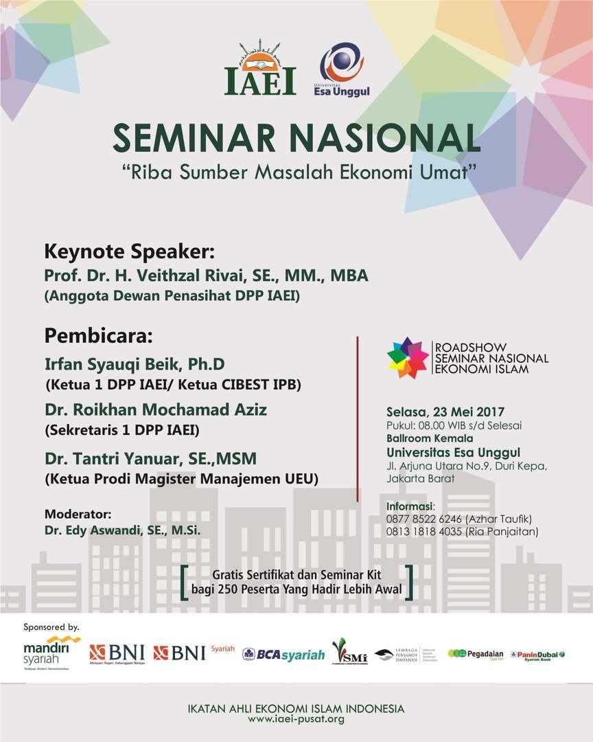 "Seminar Nasional ""Riba Sumber Masalah Ekonomi Umat"""