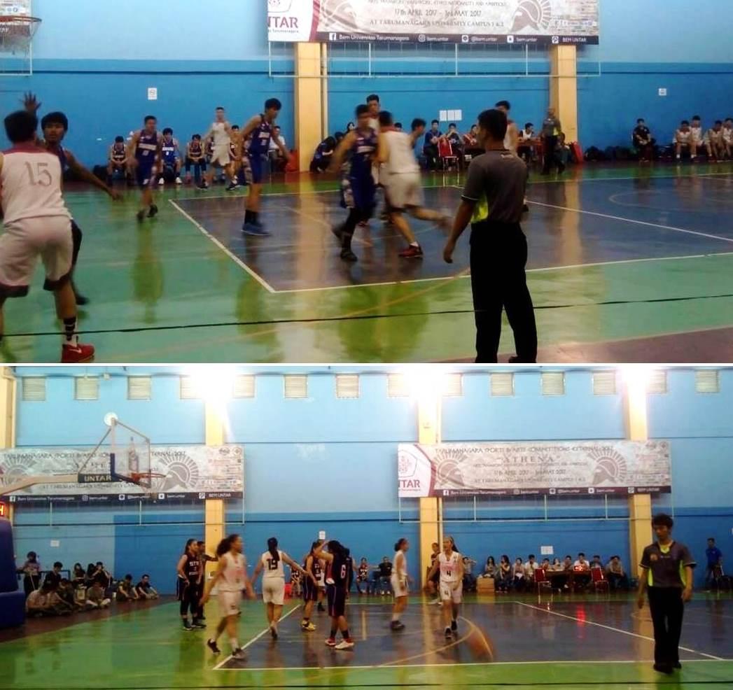 Tim Basket Putra dan Putri Universitas Esa Unggul Meraih Juara III UNTAR CUP 2017
