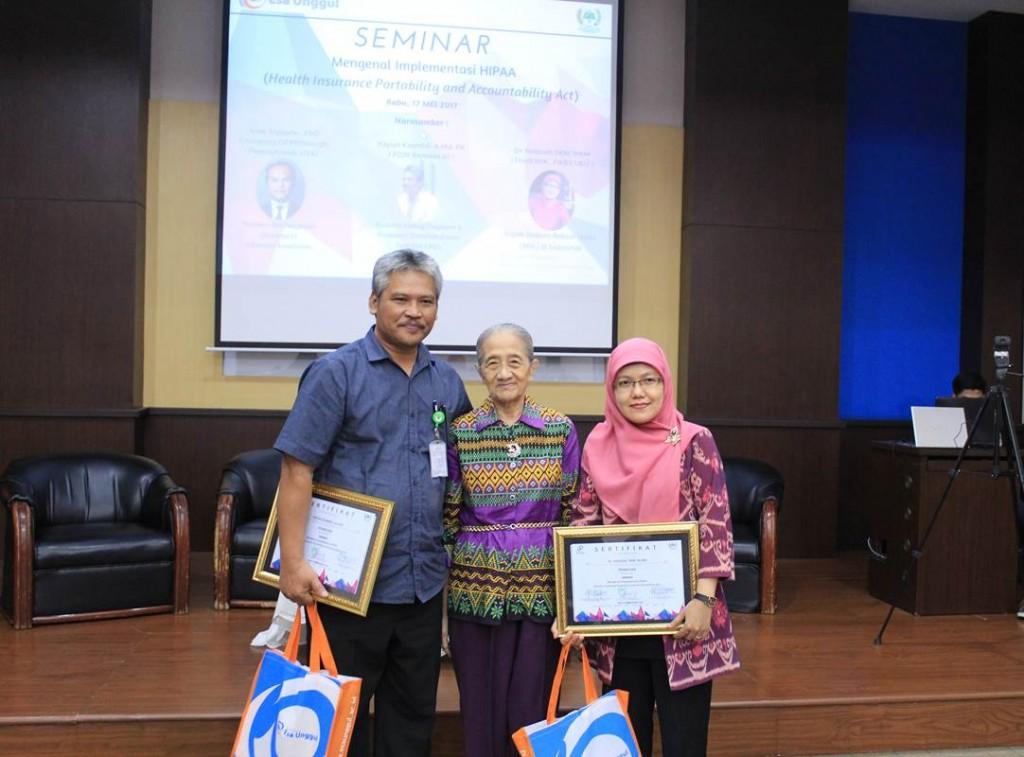 Tim Case-Mix Kementerian Kesehatan Republik Indonesia dan Dr. Hozisah, SKM, MM