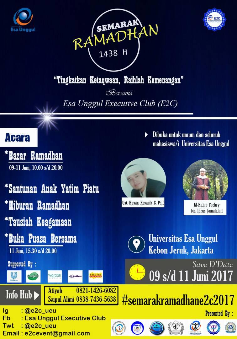 Esa Unggul Executive Club Proudly Present Semarak Ramadhan