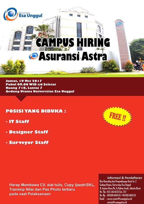 Campus Hiring Asuransi Astra