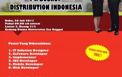 Campus Hiring PT Bosnet Distribution Indonesia