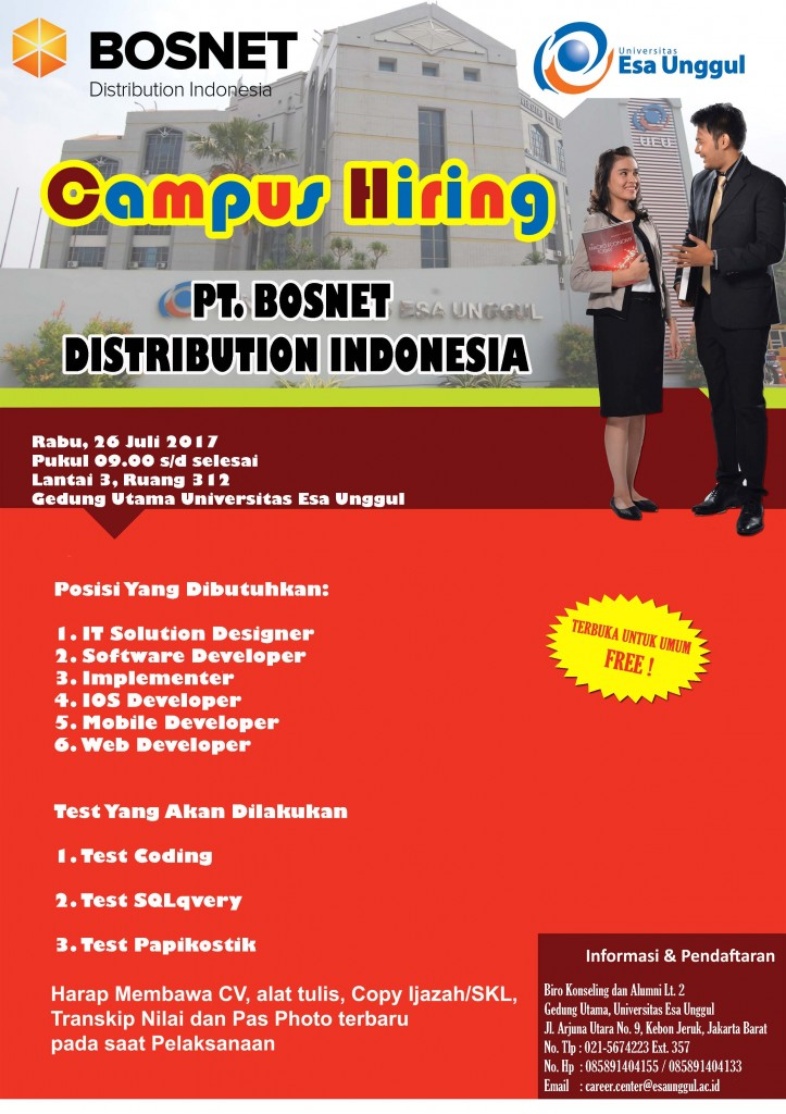 Campus Hiring PT Bosnet