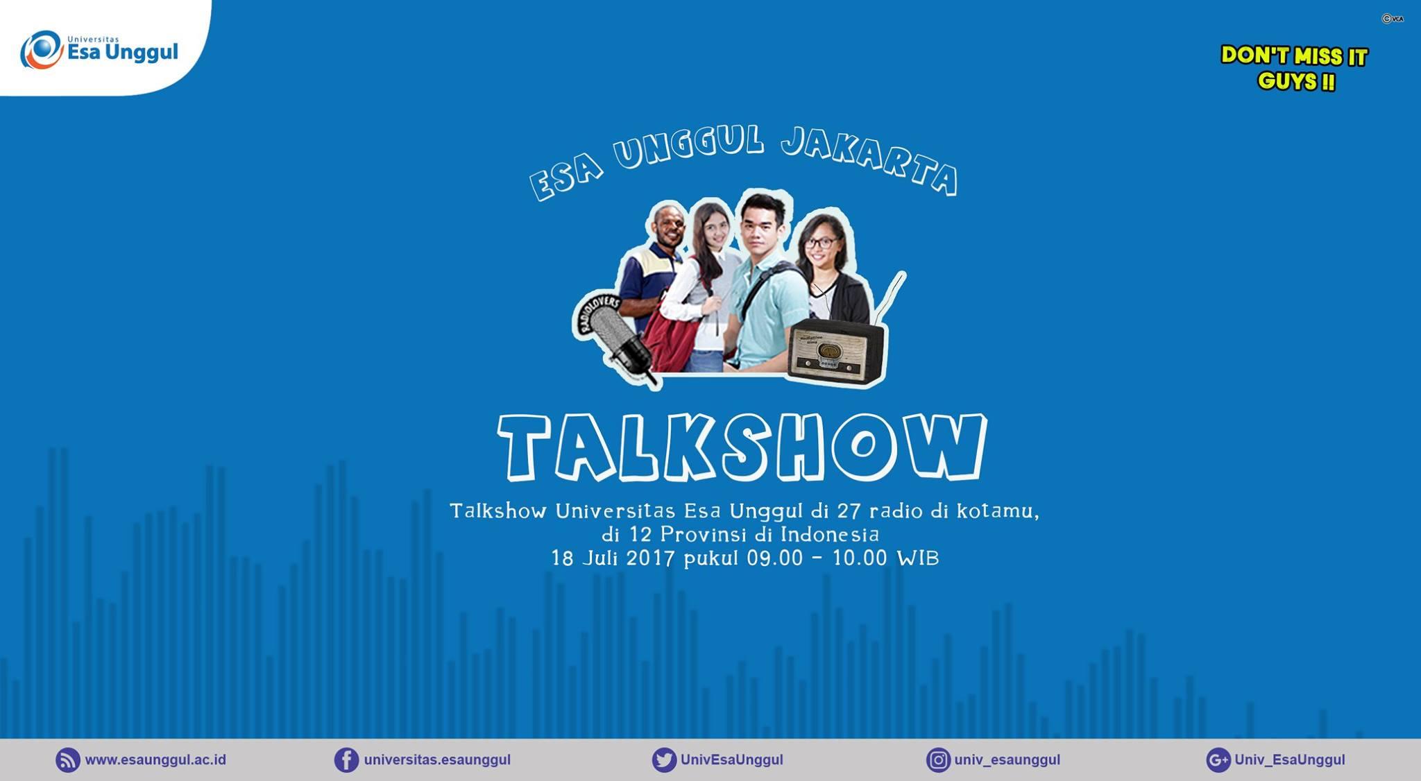 ESA UNGGUL TALKSHOW DI 12 PROVINSI DI INDONESIA