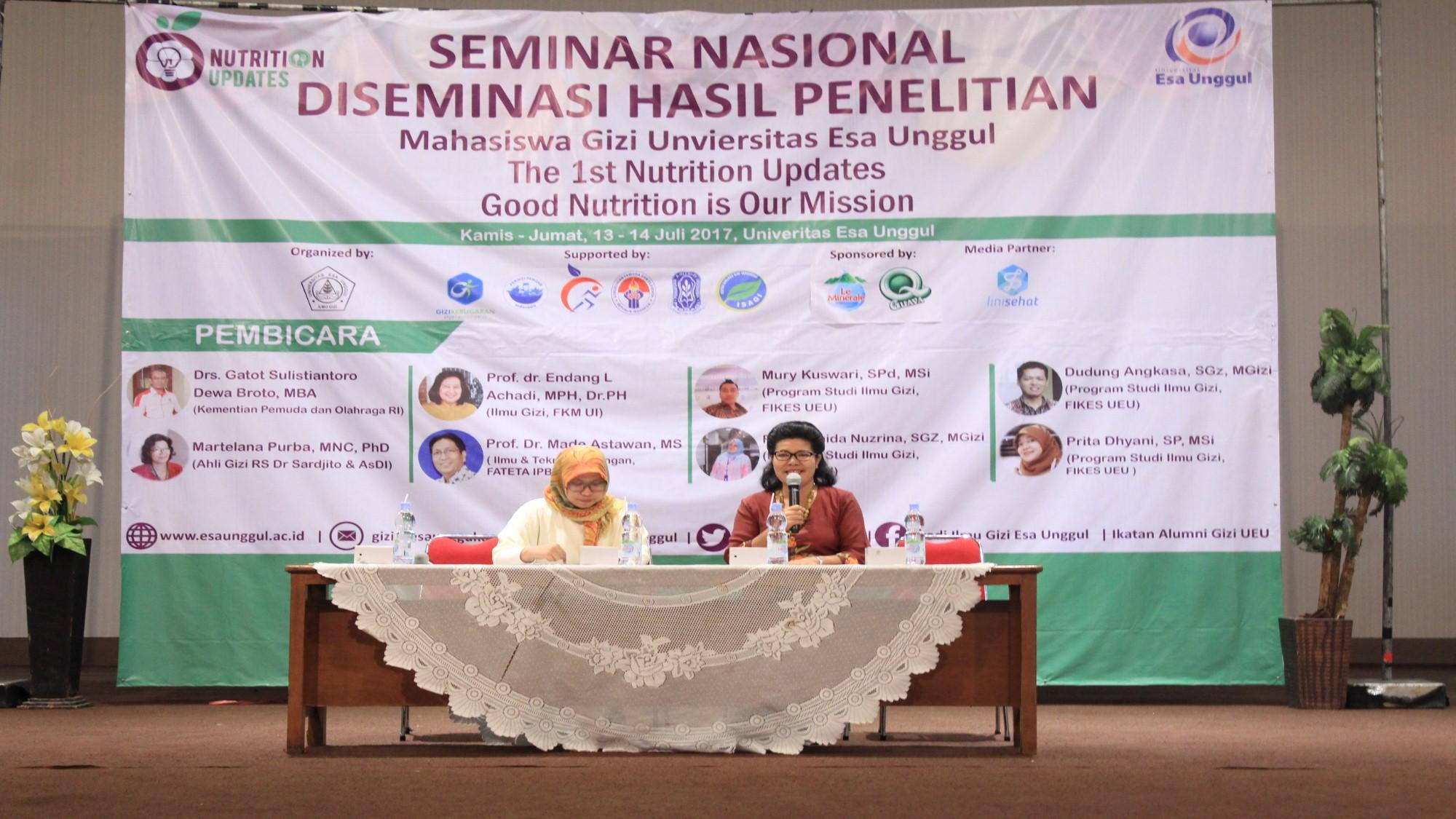 Ilmu Gizi Adakan Seminar Bahas Hasil Penelitian Mahasiswa Terbaik 2017