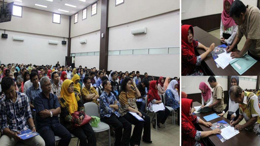 Proses penandatangan Beasiswa Yang diikuti oleh Orangtua dan Siswa