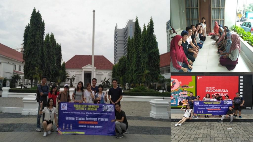 Jalan-jalan Mahasiswa/i Program Student Exchange di Jakarta