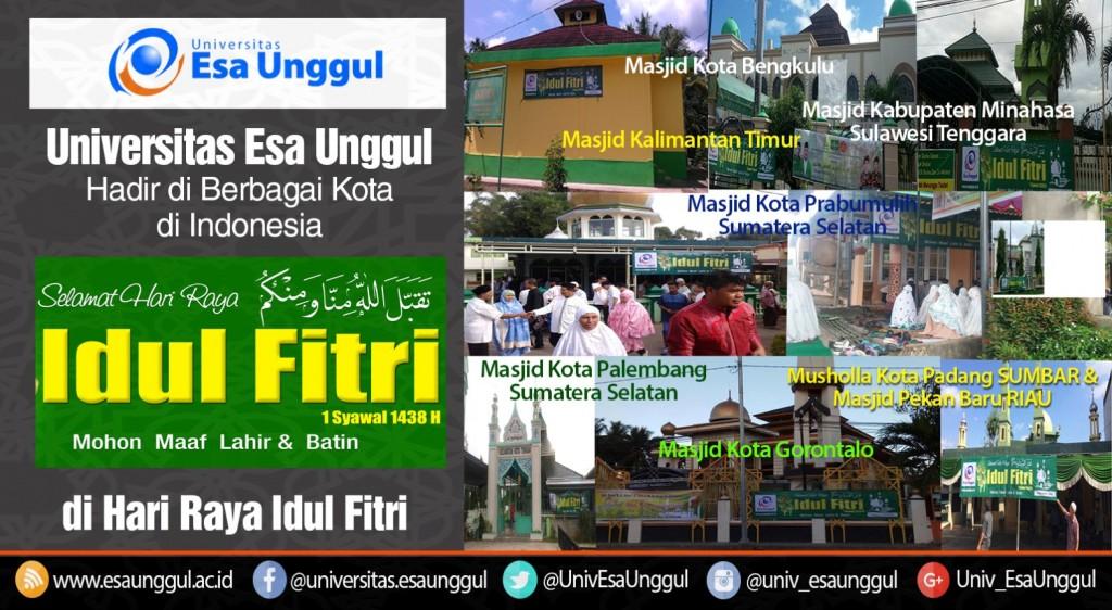 Ucapan Selamat Hari Raya Idul Fitri di 11 Kota Indonesia