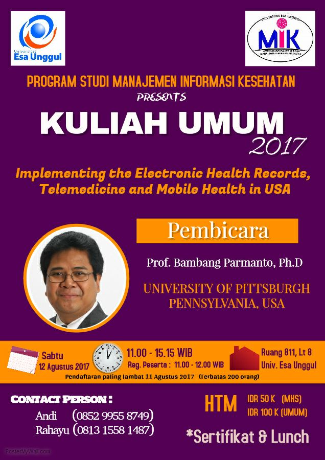 Kuliah Umum Manajemen Informasi Kesehatan