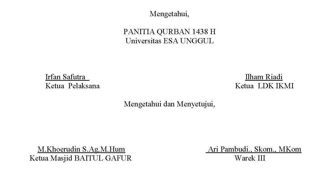 PANITIA  QURBAN 1438 H