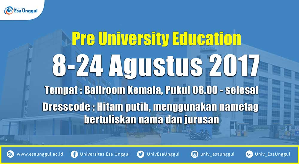 Pre University Education 2017