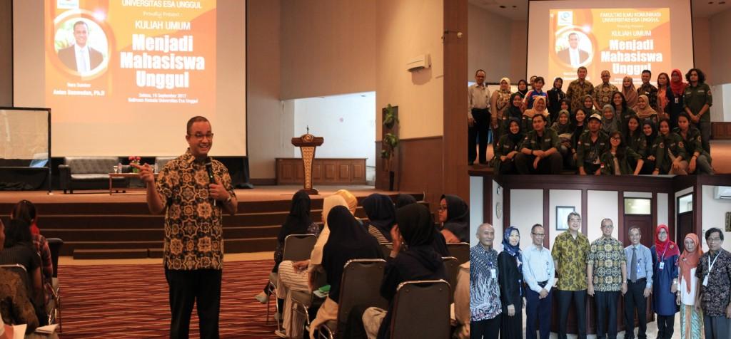Suasana Saat Seminar dan Kuliah Umum Menjadi Mahasiswa Unggul