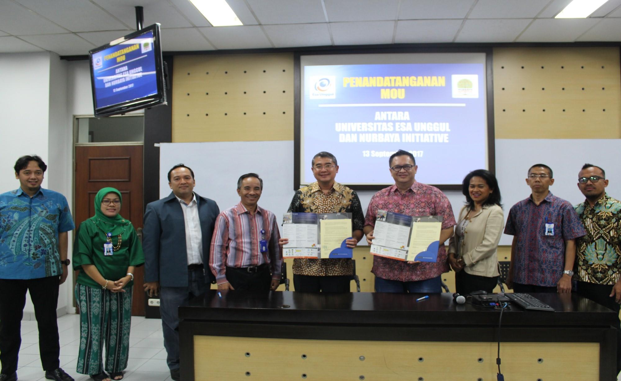 Esa Unggul dan Nurbaya Initiative Lakukan Kerjasama Tingkatkan Digital Enterpreneur di Kalangan Anak Muda