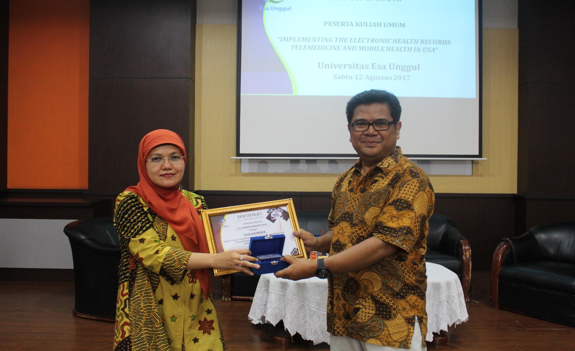 Prof.Bambang Parmanto, Ph.D Ahli Manajemen Informasi Kesehatan Pittsburg University Amerika Serikat