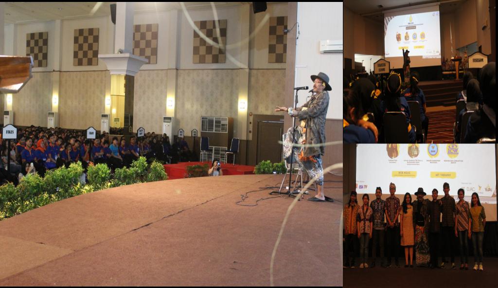 Sujiwo Tejo Saat Mendendangkan Lagu Ingsun Saat Seminar Esgul Welcoming Days
