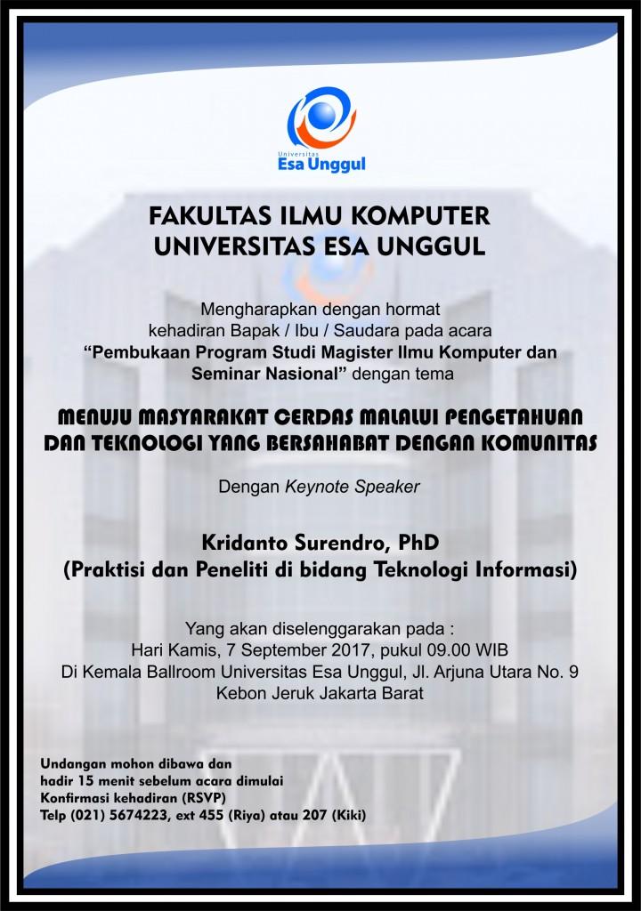 Undangan Magister Komputer