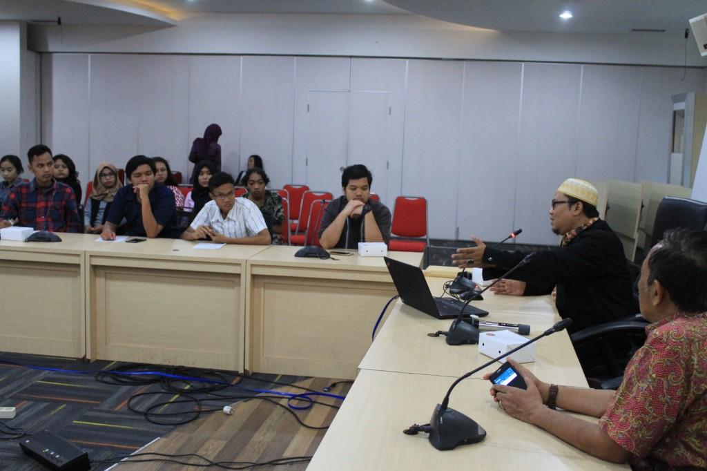 Audiensi dan Diskusi oleh Hadi Nugraha,SH,MH Kepala Seksi Kerjasama antar Lembaga Non Pemerintah dan Monitoring Konsultan Kekayaan Intelektual