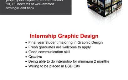 Lowongan Kerja Internship Graphic Design – Magang Sinar Mas Land