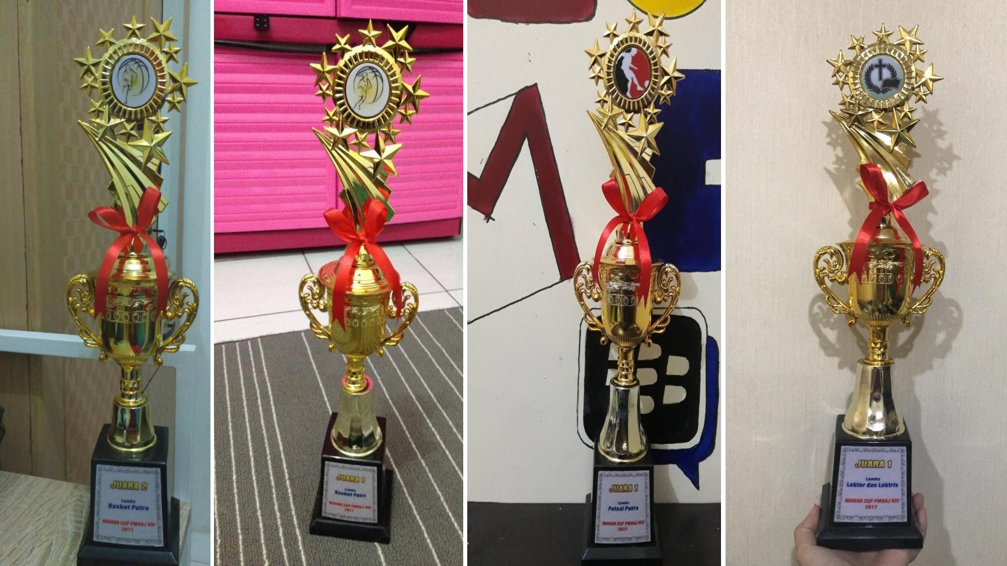 Piala Penghargaan yang didapatkan Dari Ajang Mawar Cup ke-VIII