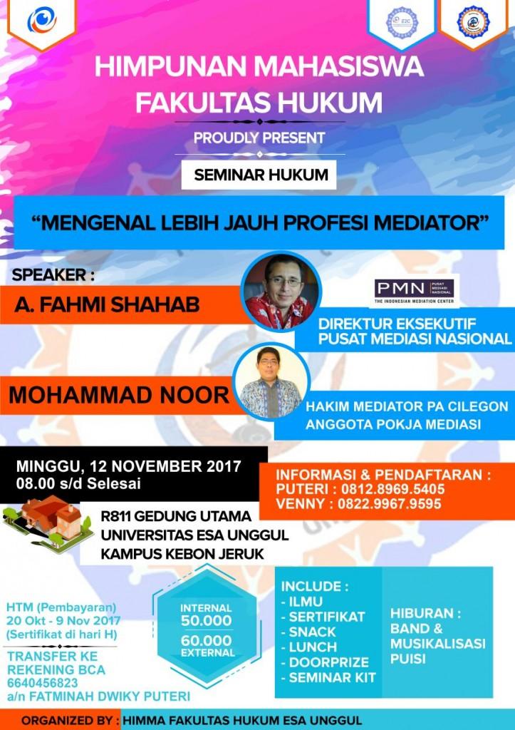 Seminar Hukum Mengenal Lebih Jauh Profesi Mediator