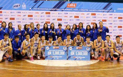 Tim Basket Esa Unggul Borong Gelar Juara di Turnamen Liga Mahasiswa Greater Jakarta Conference 2017