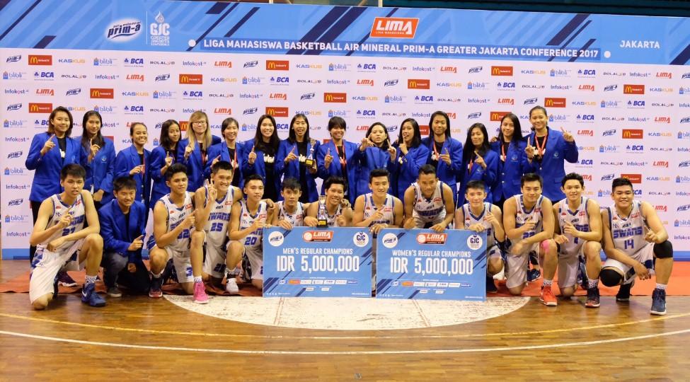 Tim Putra-Putri  Esa Unggul Juarai Turnamen GJC 2017