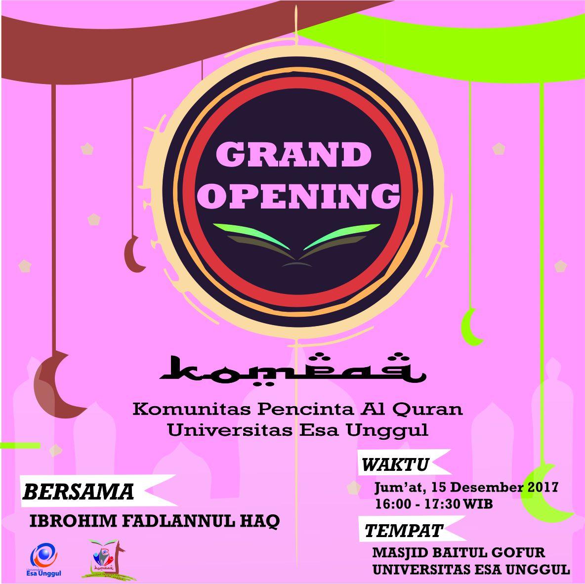 "Launching KOMPAQ ""Komunitas Pecinta Al-Qur'an"""