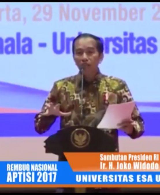 Presiden RI Joko widodo hadiri Rembug Nasional Perguruan Tinggi Swasta di Esa Unggul