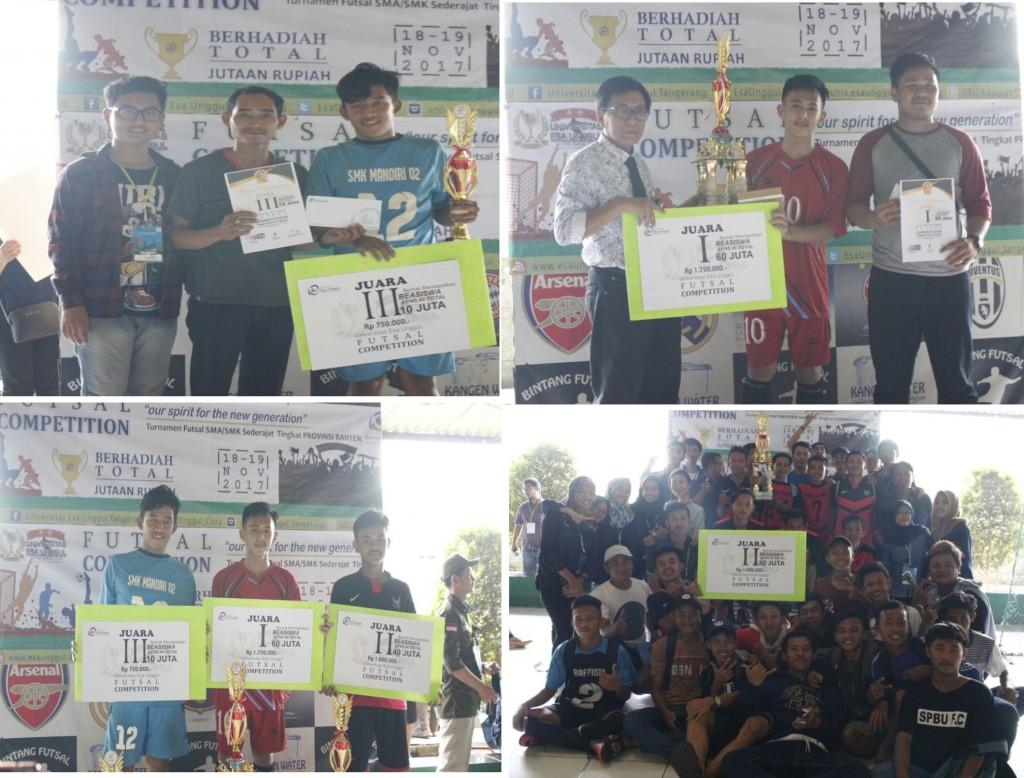 Suasana Saat Penyerahan Penghargaan Pemenang Kompetisi Futsal