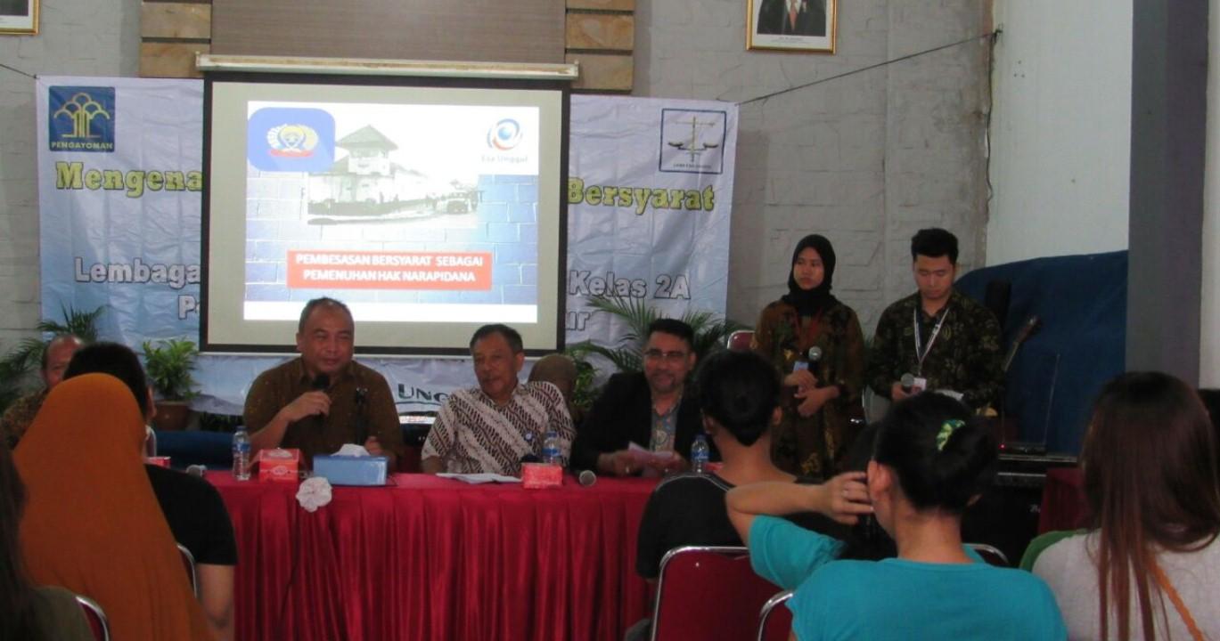 Para Narasumber yang dihadirkan dalam Penyuluhan di Rutan Pondok Bambu Jakarta Timur