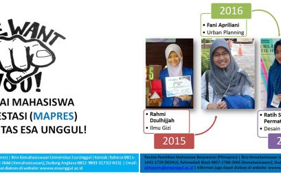 Pemilihan Mahasiswa Berprestasi Program Sarjana Tingkat Universitas Esa Unggul (MAWAPRES-UEU) 2018