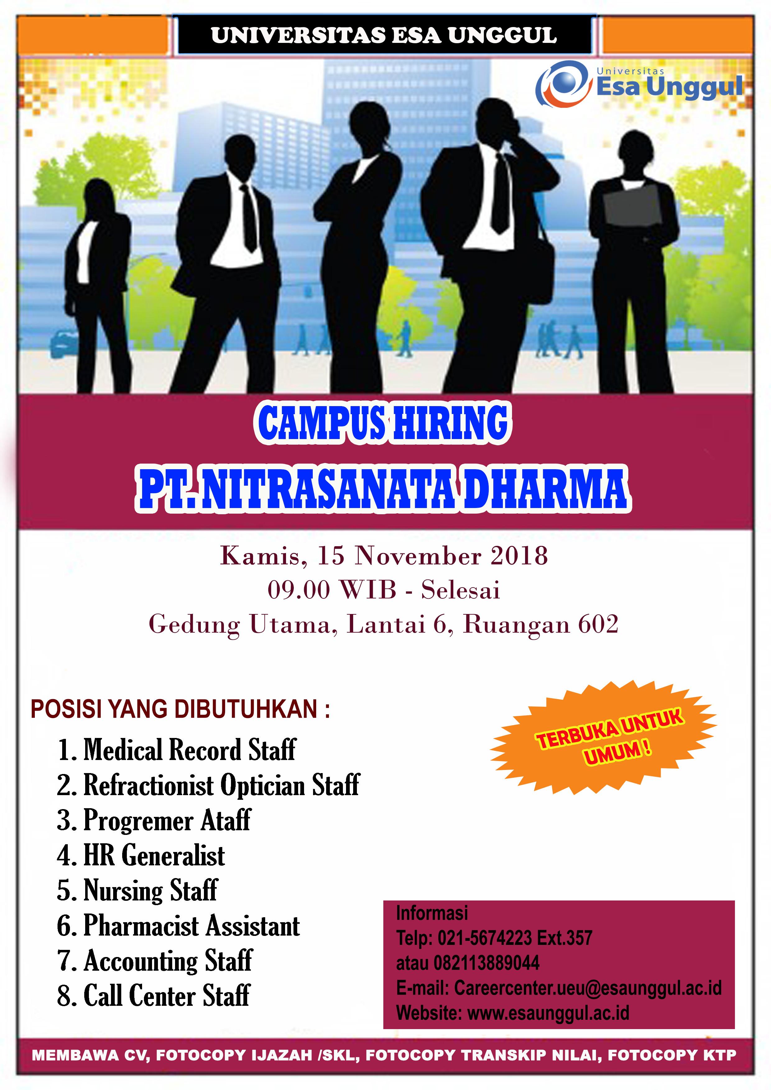 Campus Hiring PT. Nitrasanata Dharma
