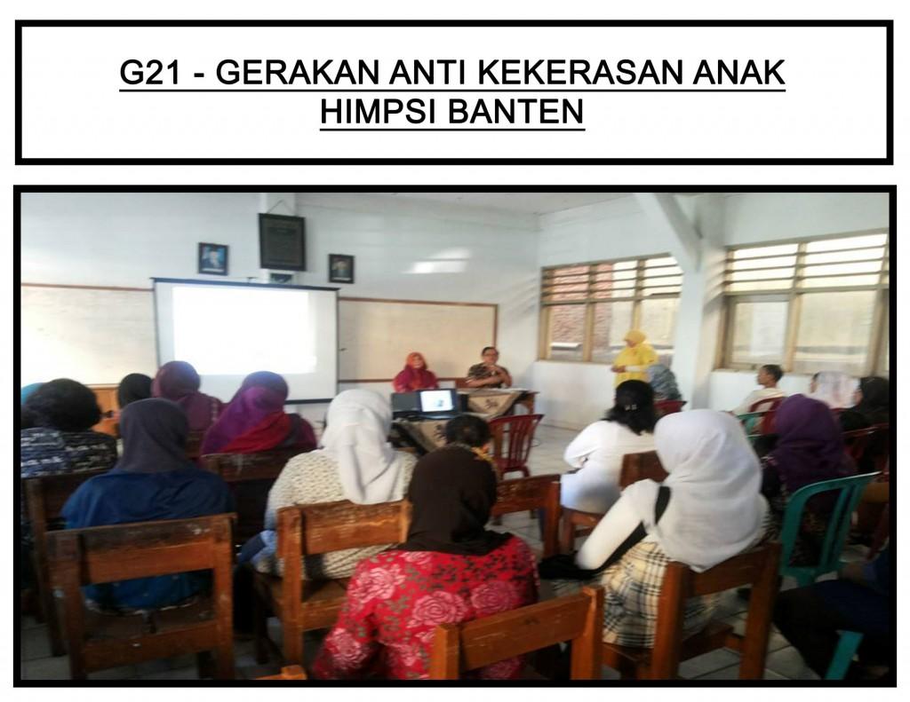 Gerakan Anti Kekekrasan Anak HIMPSI Banten