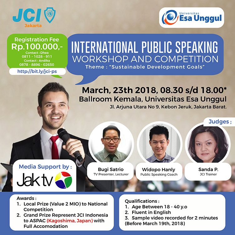 International Public Speaking Workshop & Competition