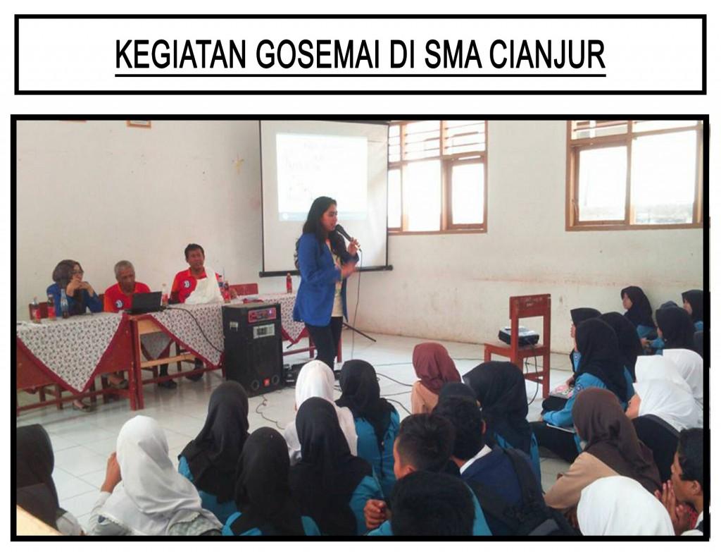 Kegiatan GOSEMAI di SMA Cianjur