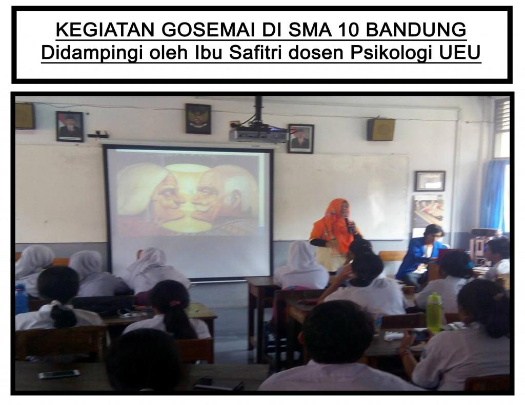 Kegiatan Gosemai di SMA 10 Bandung