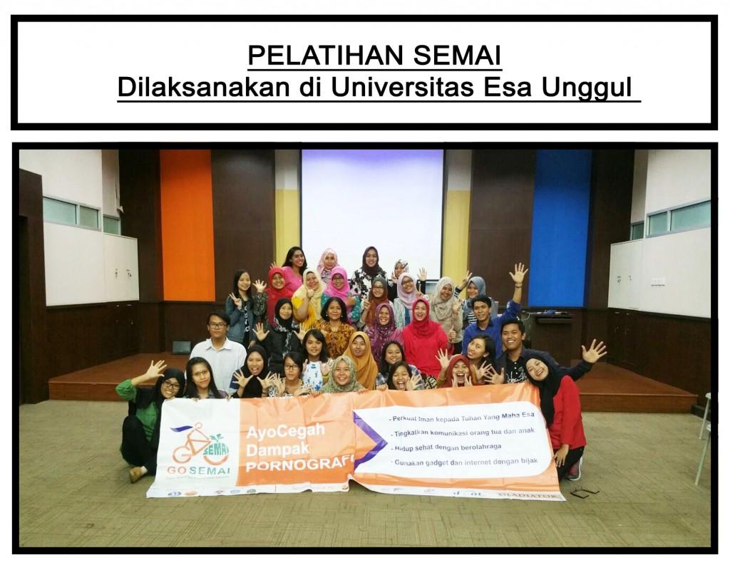 Pelatihan SEMAI dilaksanakan di Universitas Esa Unggul