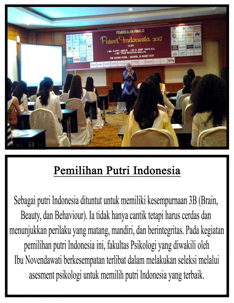 Pembekalan Puteri Indonesia 2017
