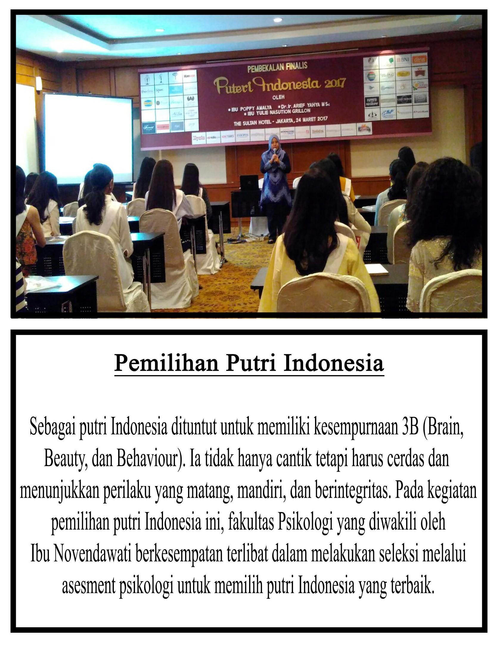 Dosen Esa Unggul Berikan Asesmen Psikologi Finalis Puteri Indonesia