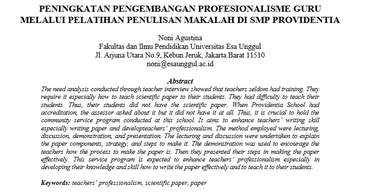 Peningkatan Pengembangan Profesionalisme Guru Melalui Pelatihan