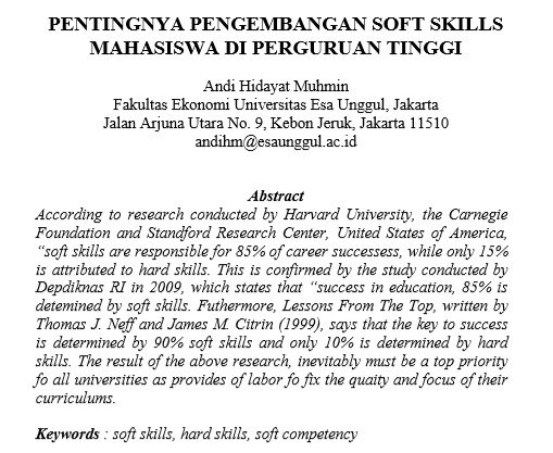 Pentingnya Pengembangan Soft Skills Mahasiswa Di Perguruan Tinggi
