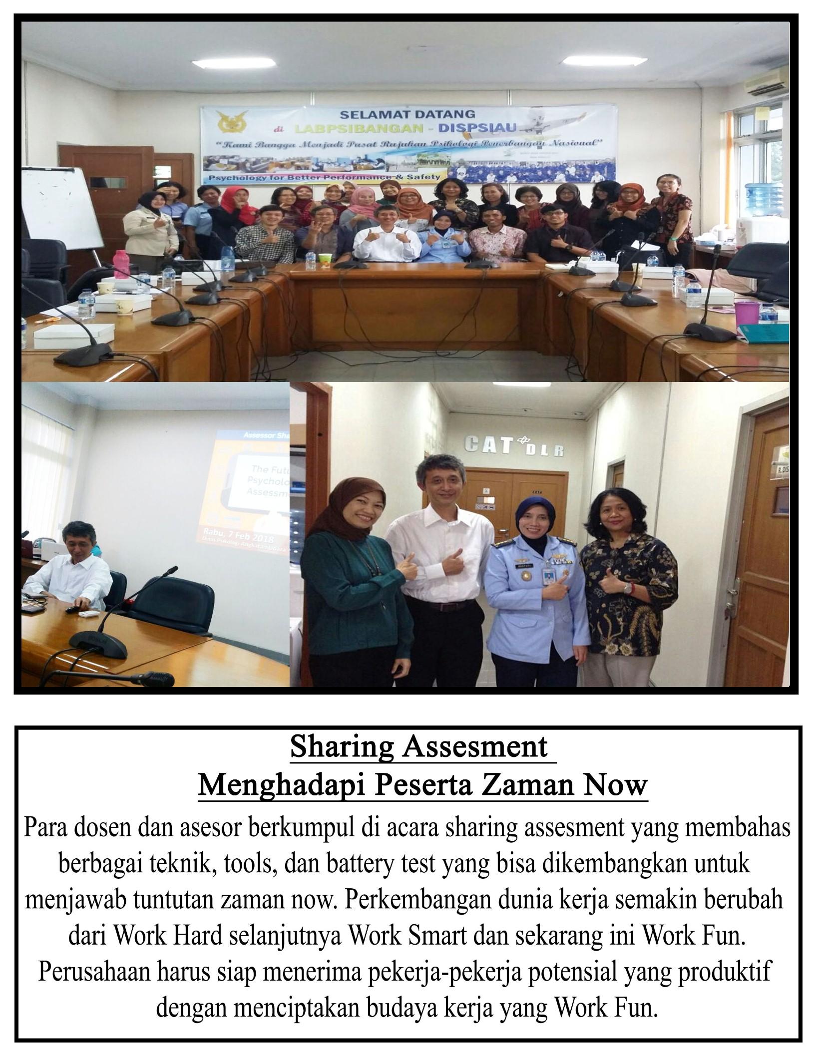Fakultas Psikologi Gelar Sharing Assesment Menghadapi Pekerja Zaman Now