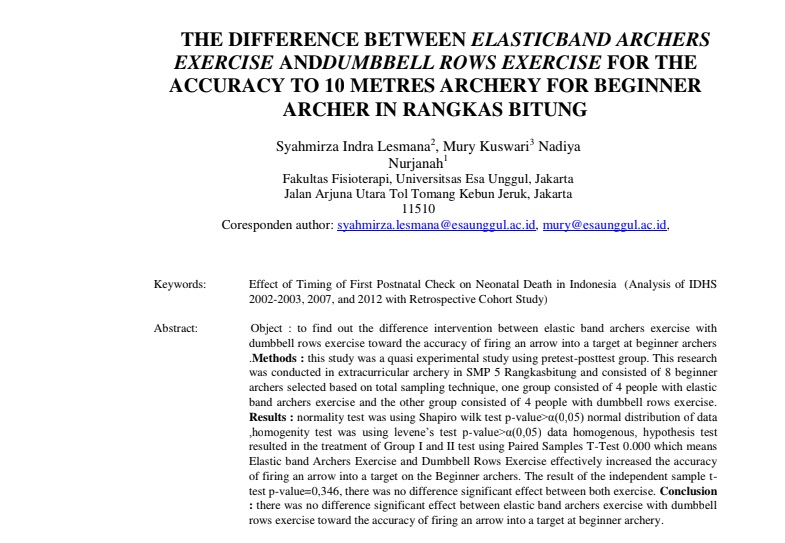 The Difference Between Elasticband Archers Exercise Anddumbbell Rows Exercise For The Accuracy To 10 Metres Archery For Beginner Archer In Rangkas Bitung