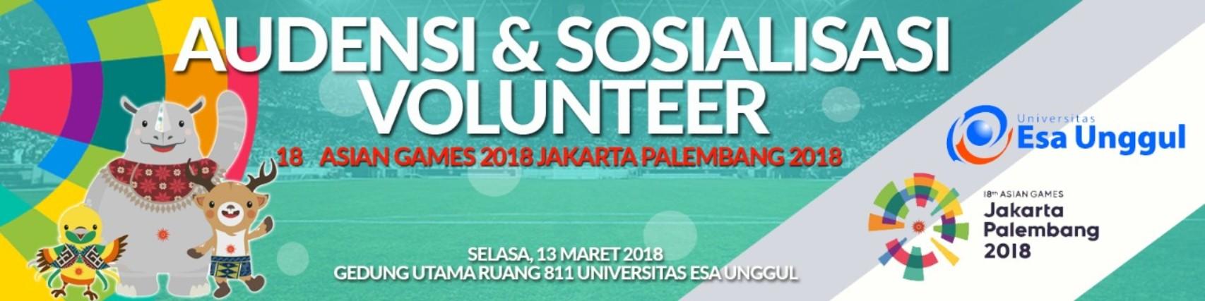 Esa Unggul menjadi tempat Audiensi dan Sosialisasi Volunteer