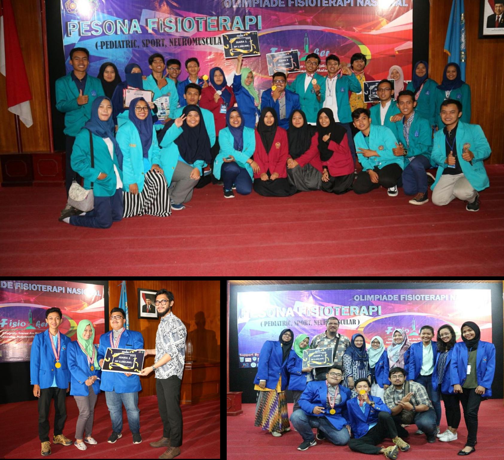 Foto Bersama saat Kejuaraan Fisioterapi Indonesia di Malang