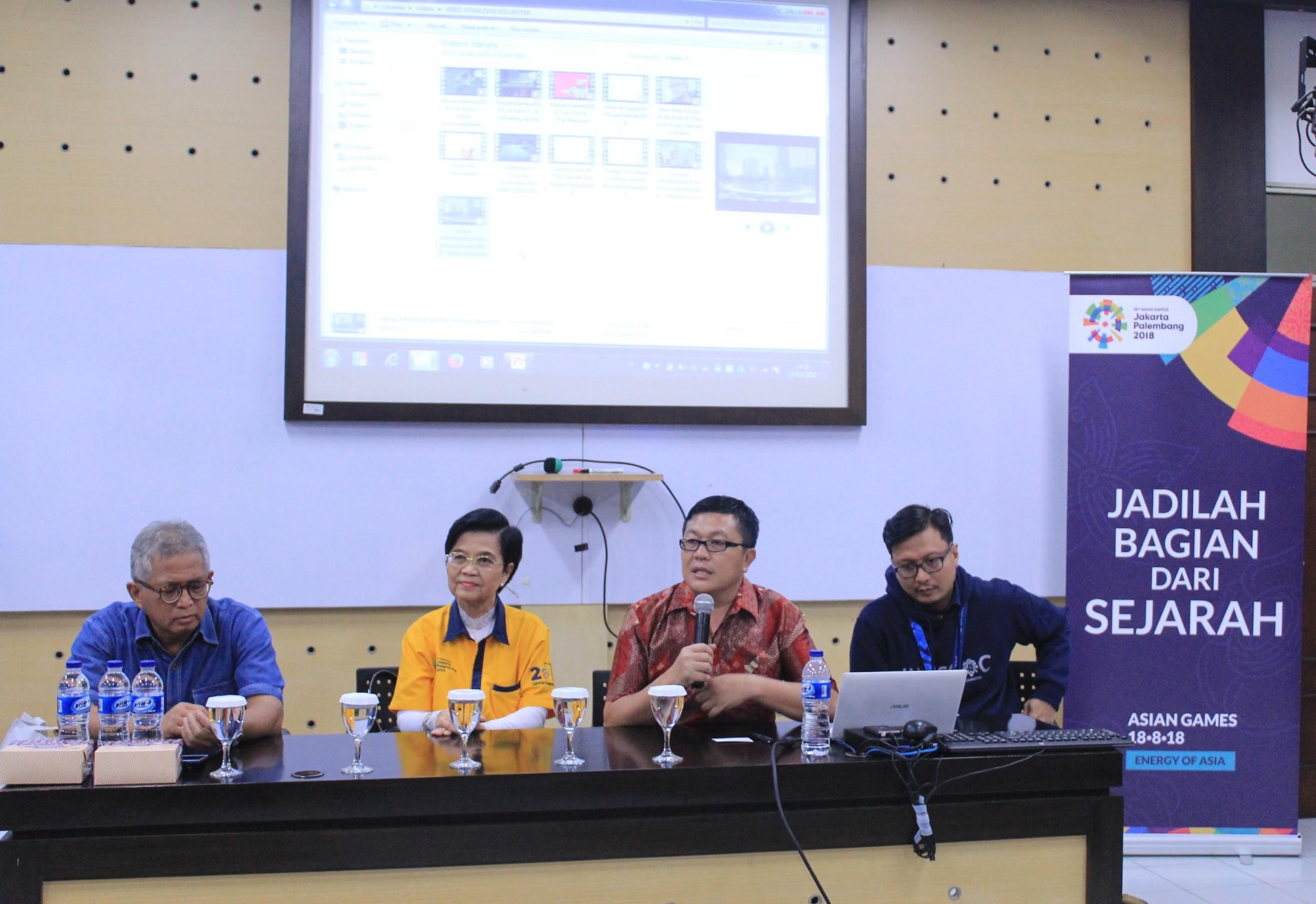 INASGOC gelar Audiensi dan Sosialisasi Volunteer Asian Games di Esa Unggul
