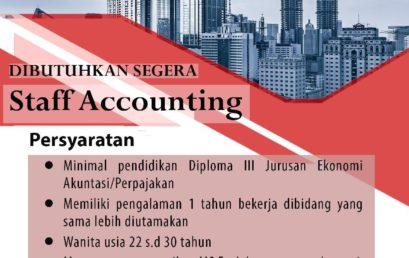 Lowongan Kerja PT. BUKAKA INTI aircon (Accounting)