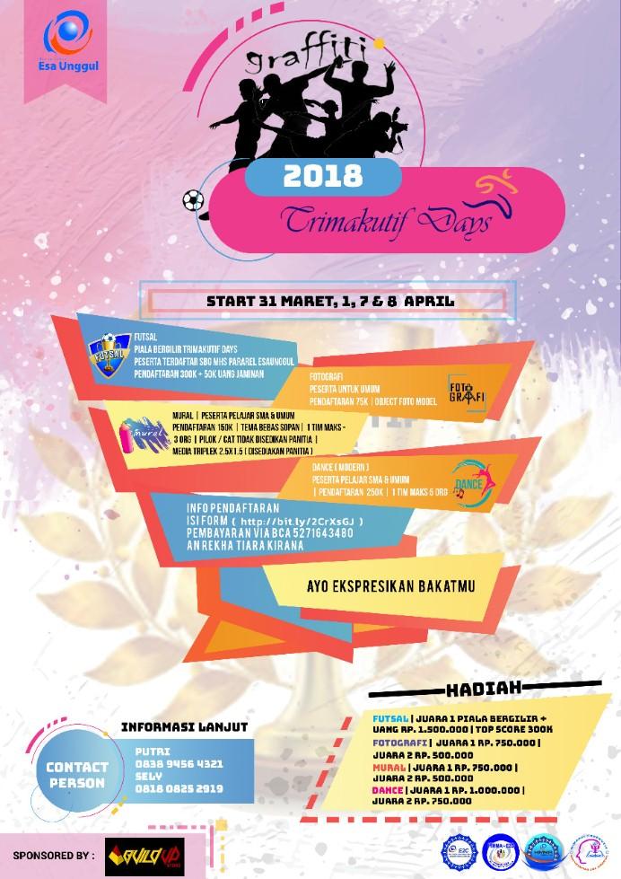 Himpunan Mahasiswa E2C Gelar Trimakutif Day's 2018, Acaranya keren-keren loh!