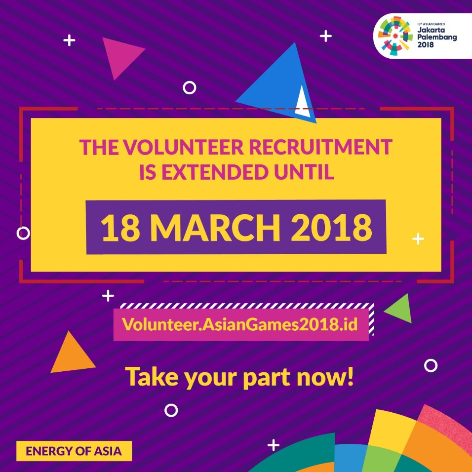 Volunteer Recruitment Asian Games